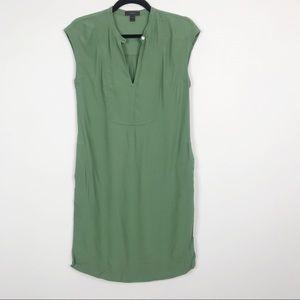 J. Crew Easy Tunic Dress Fern Green XXSmall 2XS